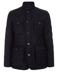 Aquascutum London Scarrow Quilted Flannel Jacket Navy