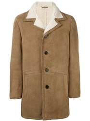 Drome Shearling Coat Nude And Neutrals