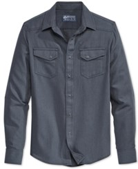 American Rag Men's Brian Solid Long Sleeve Shirt Only At Macy's Black Wash