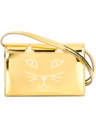 Charlotte Olympia 'Feline' Shoulder Bag Metallic