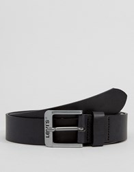 Levi's Classic Leather Belt In Black Black