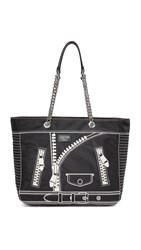 Moschino Leather Tote Black