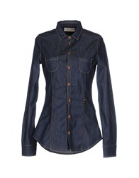 Met And Friends Denim Denim Shirts Women Blue