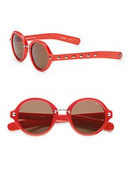 Rebecca Minkoff Grand 48Mm Round Sunglasses Red