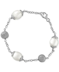 Effy Collection Effy Cultured Freshwater Pearl 10Mm And Bead Bracelet In Sterling Silver