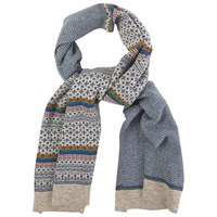 White Stuff Urban Fairisle Scarf Navy