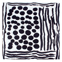 Bianca Elgar Sploshes Summer Square Scarf Black White