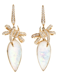 Stephen Webster 'Forget Me Knot' Bow Earrings Metallic