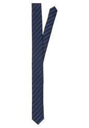 Olymp Level 5 Tie Dunkelblau Schwarz Mottled Dark Blue