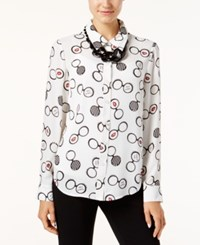 Inc International Concepts Glasses Print Blouse Only At Macy's Iris Glasses