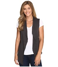 Dylan By True Grit Vintage French Terry Vest Soft Black Women's Vest