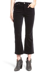 Rag And Bone Women's Jean High Rise Velvet Crop Flare Pants