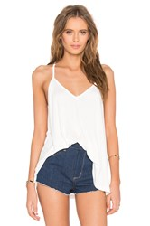 Blq Basiq Cross Back Tank White