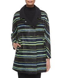 Milly Eldridge Couture Stripe Coat Size S Multi Colors