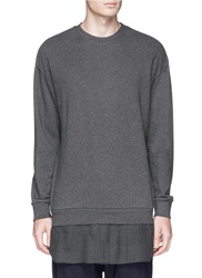 3.1 Phillip Lim Hem Insert Cotton Sweatshirt Grey
