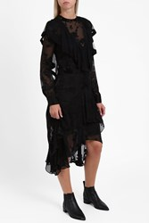 Preen By Thornton Bregazzi Women S Etha Ruffle Dress Boutique1 Black