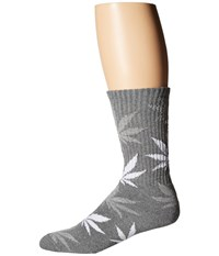 Huf Plantlife Crew Sock Charcoal Heather Crew Cut Socks Shoes Gray