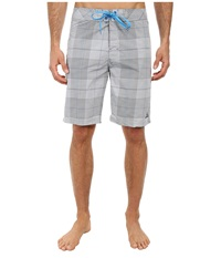 Prana El Porto Short Gravel Men's Swimwear Silver