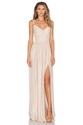 Amanda Uprichard Rio Maxi Dress Beige