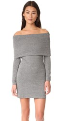 Splendid Off The Shoulder Dress Charcoal