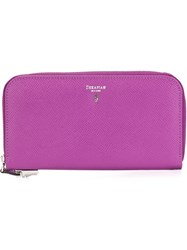 Serapian All Around Zip Wallet Pink And Purple