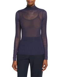 Opening Ceremony Long Sleeve Sheer Mesh Top Ink