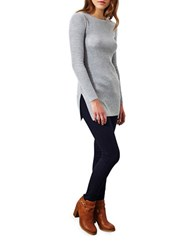 Miss Selfridge Knit Tunic Grey