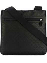 Emporio Armani Logo Print Shoulder Bag Black