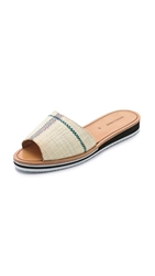 Rachel Comey Malick Slides Patterned Straw