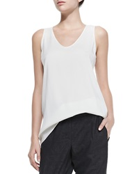 Brunello Cucinelli Scoop Neck Silk Cami