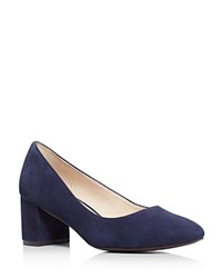Cole Haan Justine Mid Heel Pumps Blue