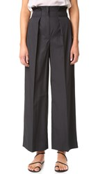 Edun Poplin Paperbag Pants Black
