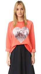 Wildfox Couture My Disco Heart Sweatshirt Electric Red