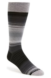 Men's Hook Albert Stripe Dress Socks Grey Domestic Grey