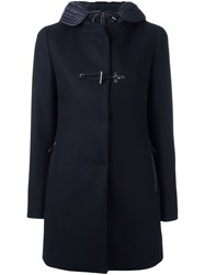 Fay Double Breasted Coat Blue
