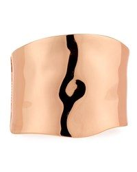 Lydell Nyc Large Hinged Cuff Bracelet Pink Gold