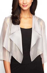 Women's Alex Evenings Ruffle Drape Jacket