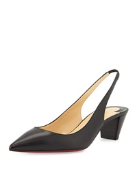 Christian Louboutin Karelli Point Toe Low Heel Red Sole Slingback