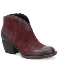 Born Michel Booties Women's Shoes Burgundy