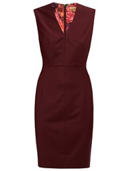 Ted Baker Edge To Edge Suit Dress Oxblood Red