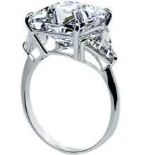 Carat Cushion 6.5Ct Trilogy Cocktail Ring White