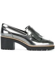 Hogan Metallic Loafers Grey