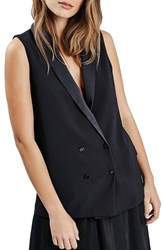 Women's Topshop Double Breasted Jacket Vest