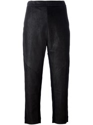 Ilaria Nistri Loose Fit Cropped Trousers Black