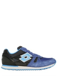 Lotto Leggenda Toyko Suede And Nylon Sneakers