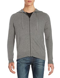 Strellson Hooded Zip Front Jacket Grey