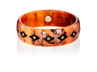 Mark Davis Women's Studded Bangle Orange