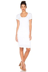 Velvet By Graham And Spencer Dina Lux Slub T Shirt Dress White