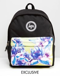 Hype Exclusive Floral Contrast Pocket Backpack New Beach Sunrise