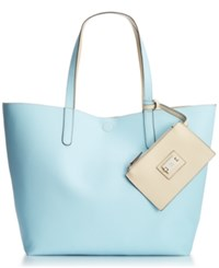 Styleandco. Style Co. Clean Cut Reversible Tote With Wristlet Only At Macy's Cool Blue Shell
